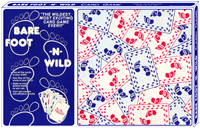 BARE FOOT-N-WILD Card Game -  The newest, wildest, most exciting family card game ever!